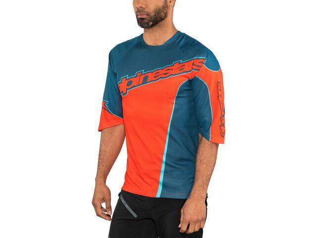 Alpinestars Crest 3/4 Jersey Men poseidon blue/energy orange